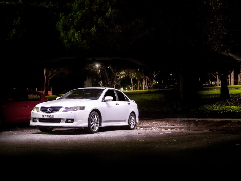 Honda Accord Euro Long exposure light painting night automotive photography
