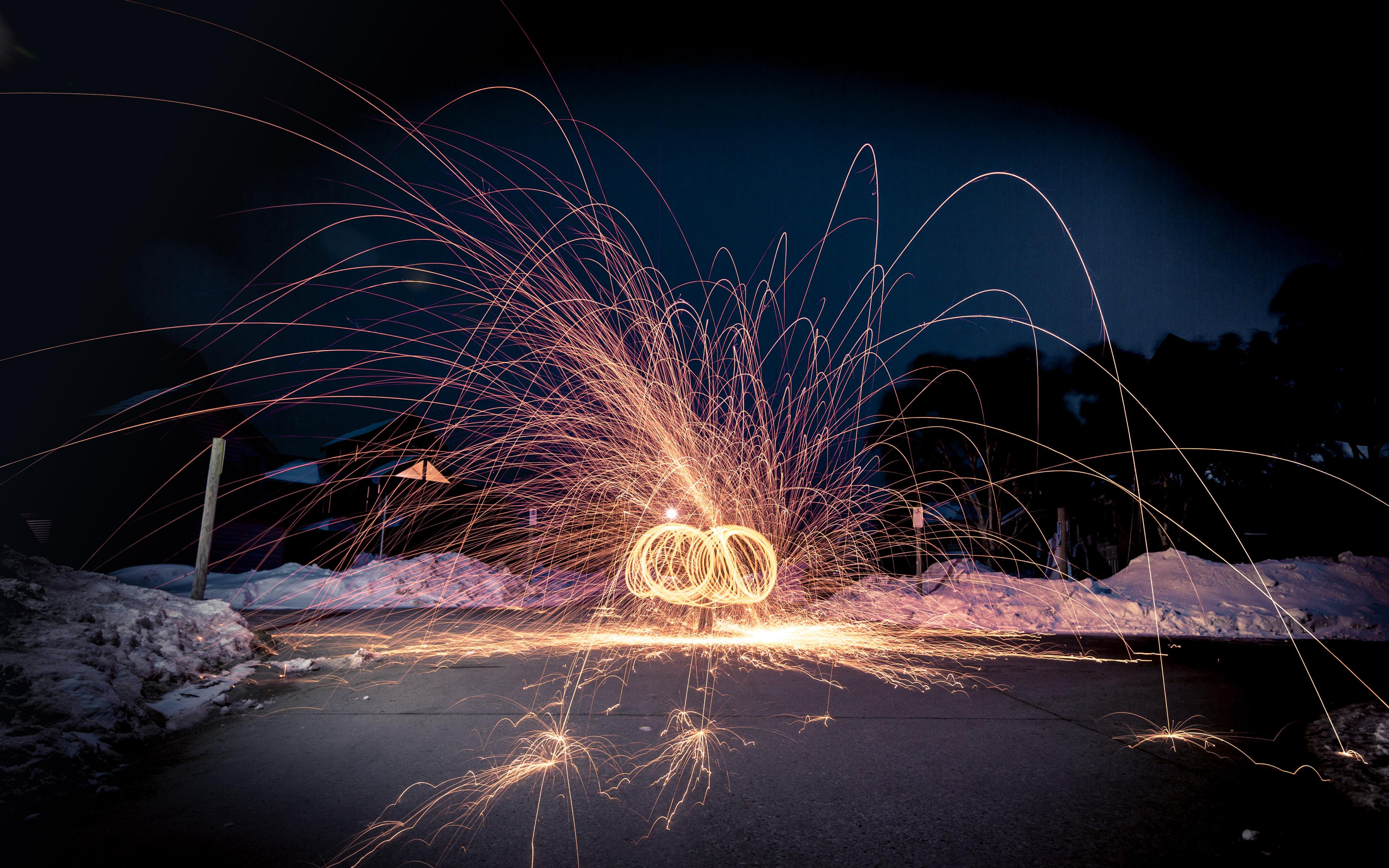 Flaming Steel Wool Hotham