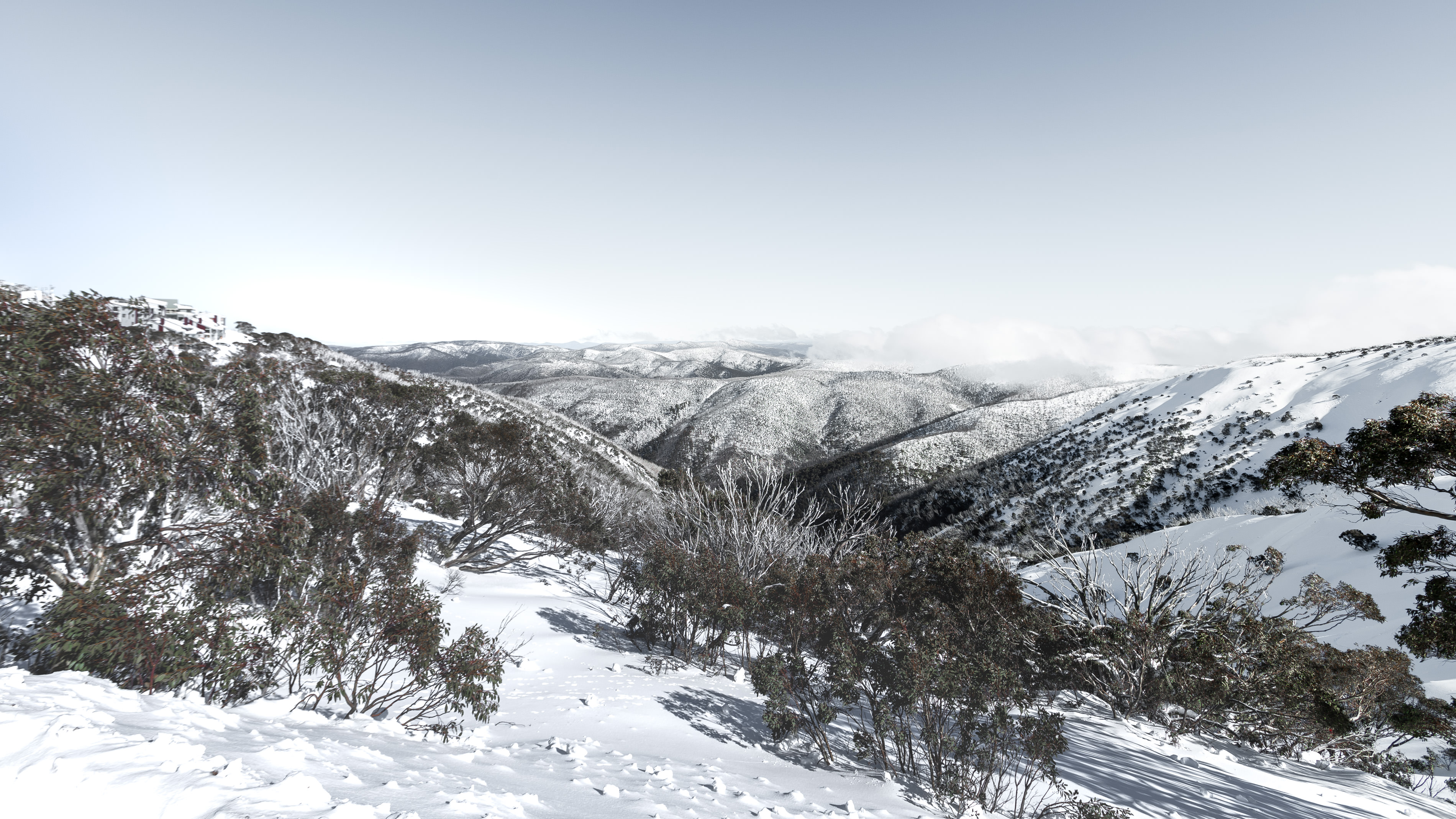 Travel photography of Mt Hotham's Snowy Peaks