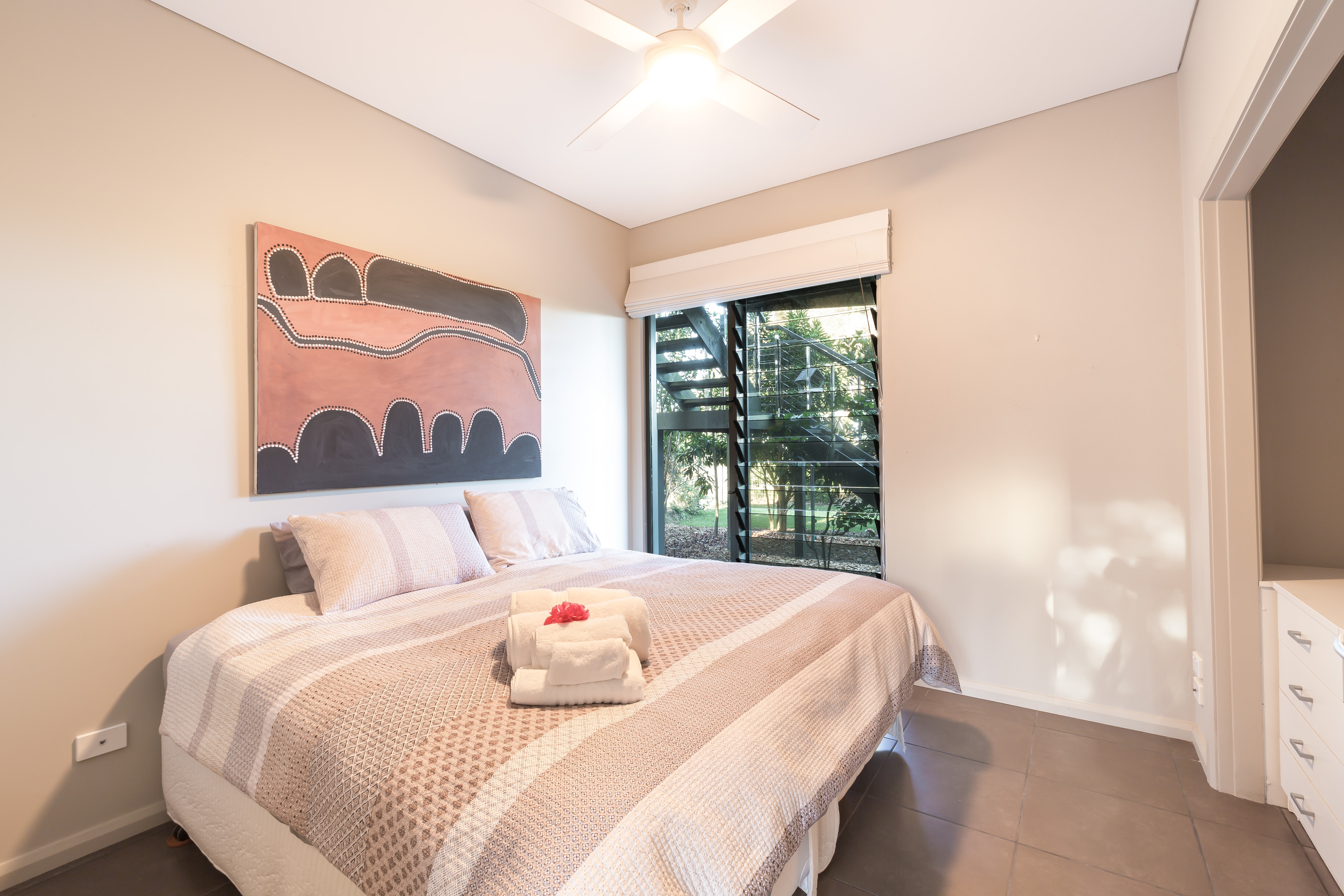 Guest Bedroom Black Diamond Beach House, Real Estate Photography
