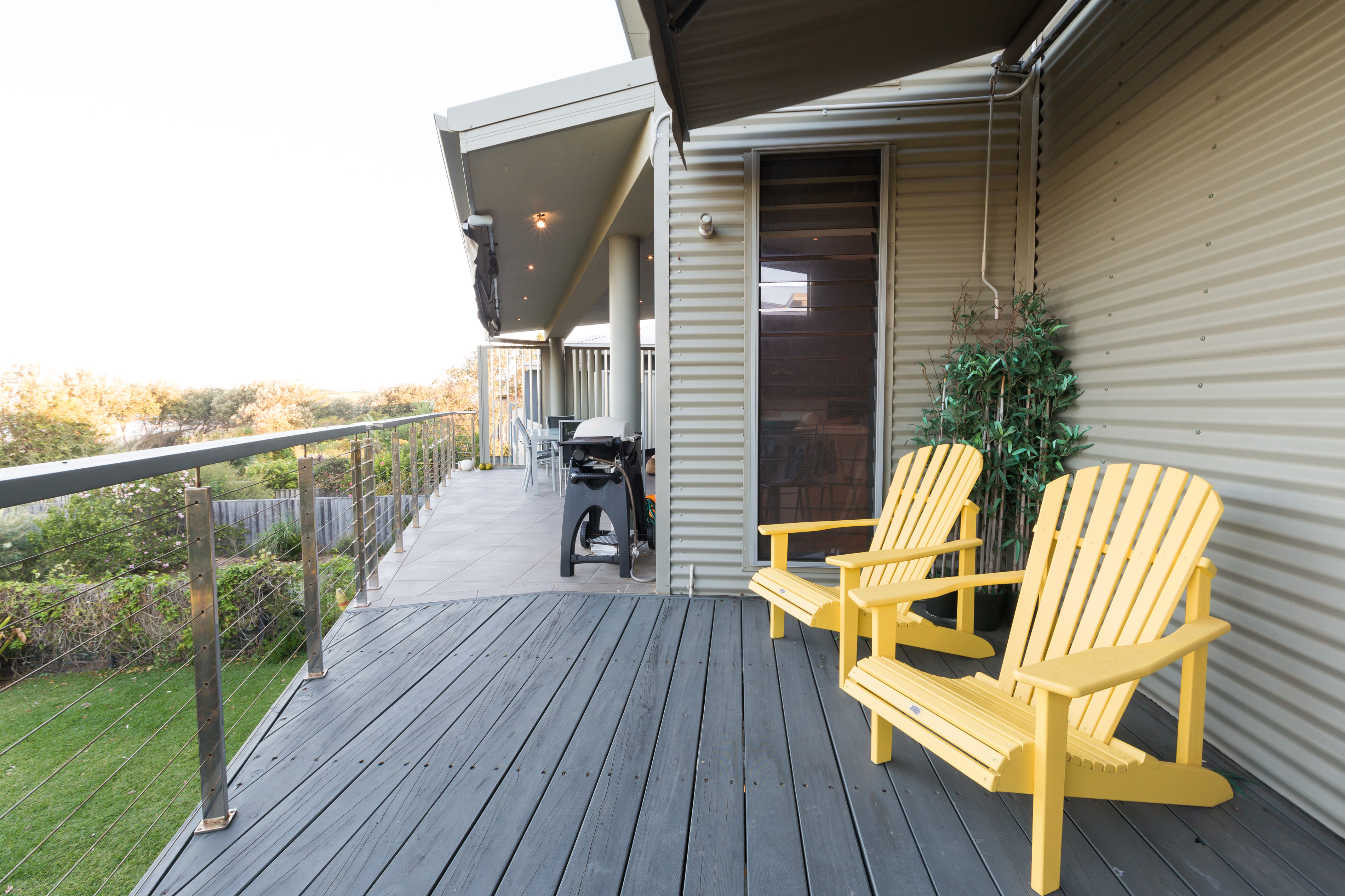 Black Diamond Beach House Expansive Deck, Real Estate Photography