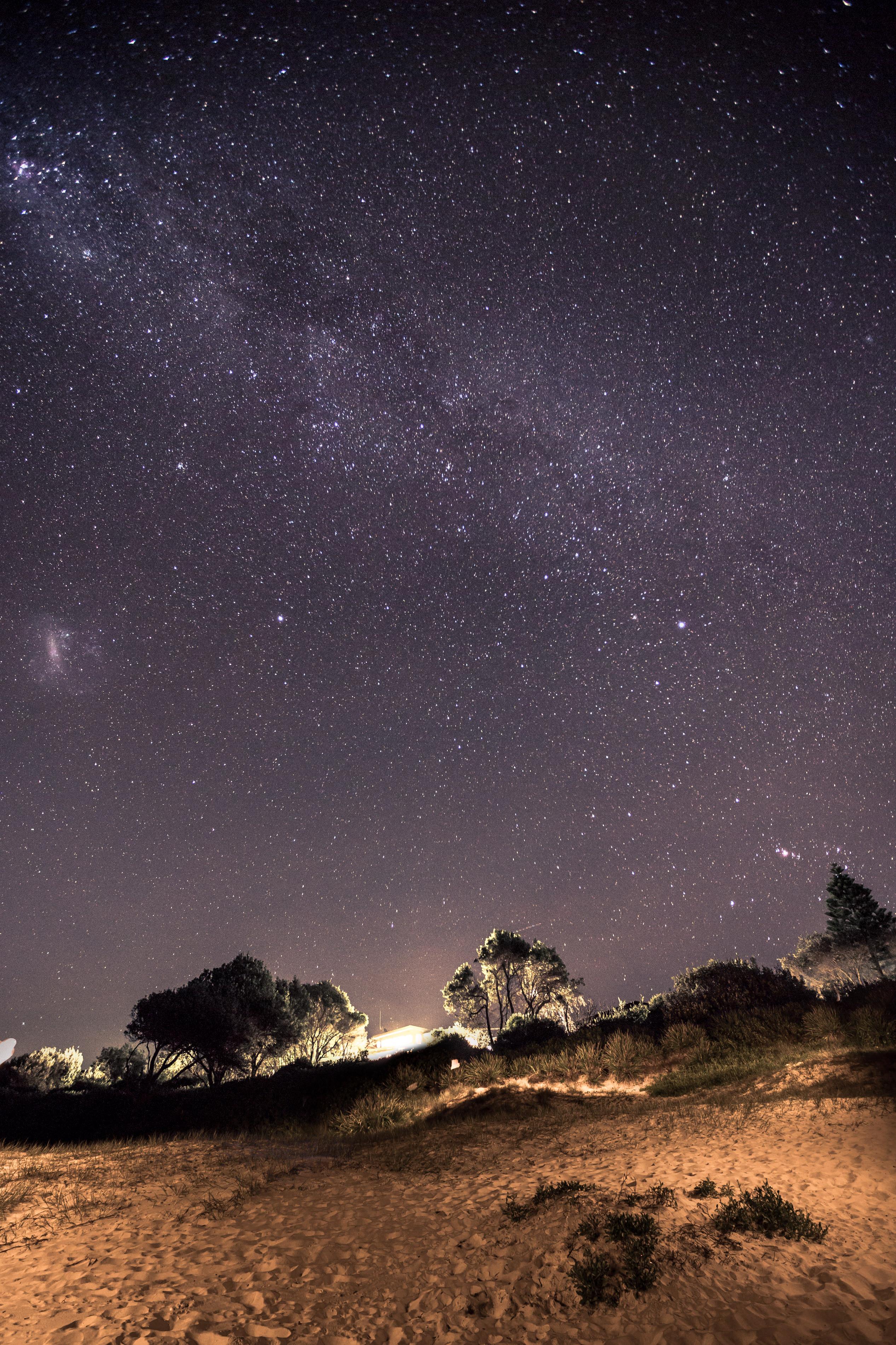 Black Diamond Beach House Sky Photography, Long Exposure Photography