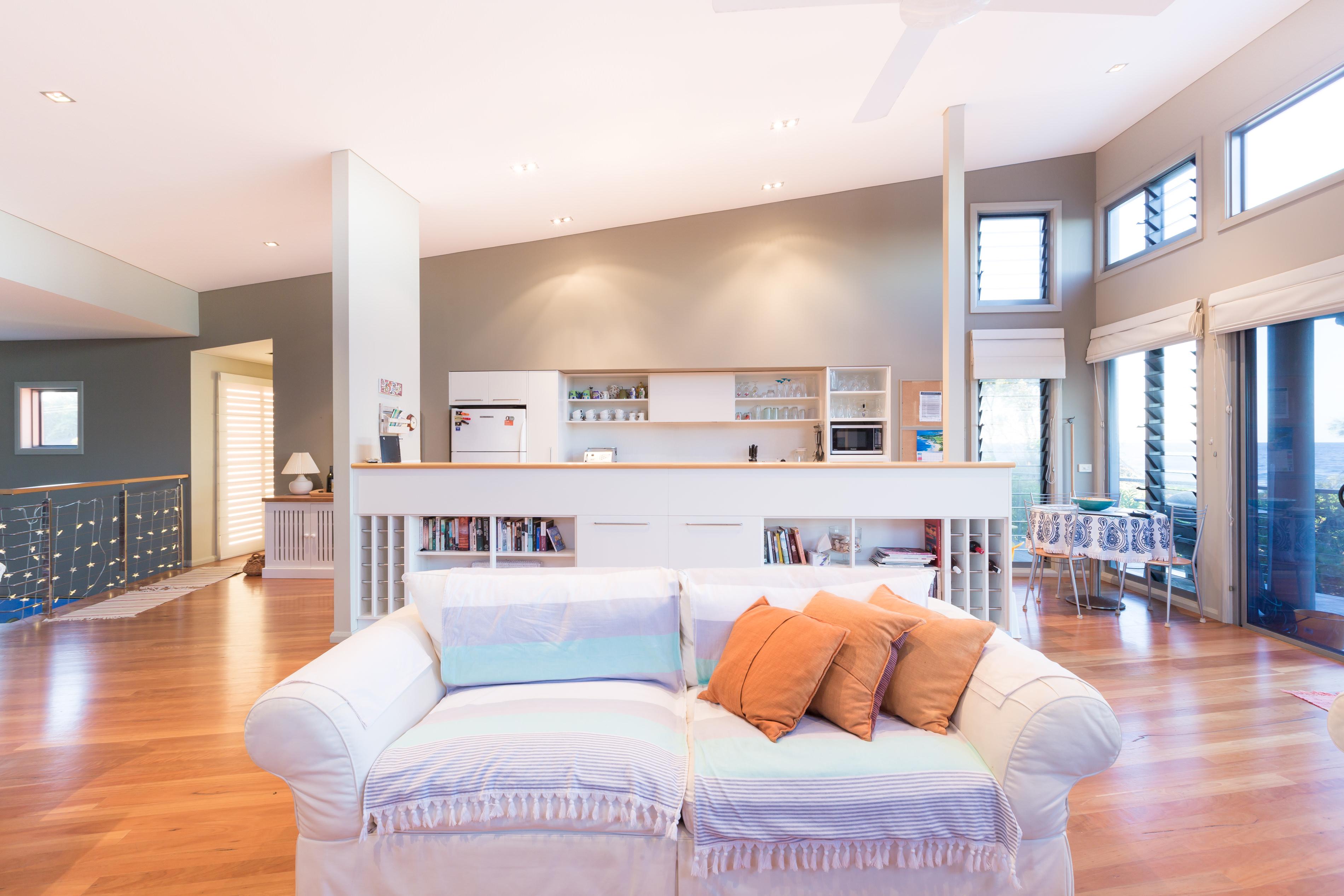 Black Diamond Beach House Living Area, Real Estate Photography