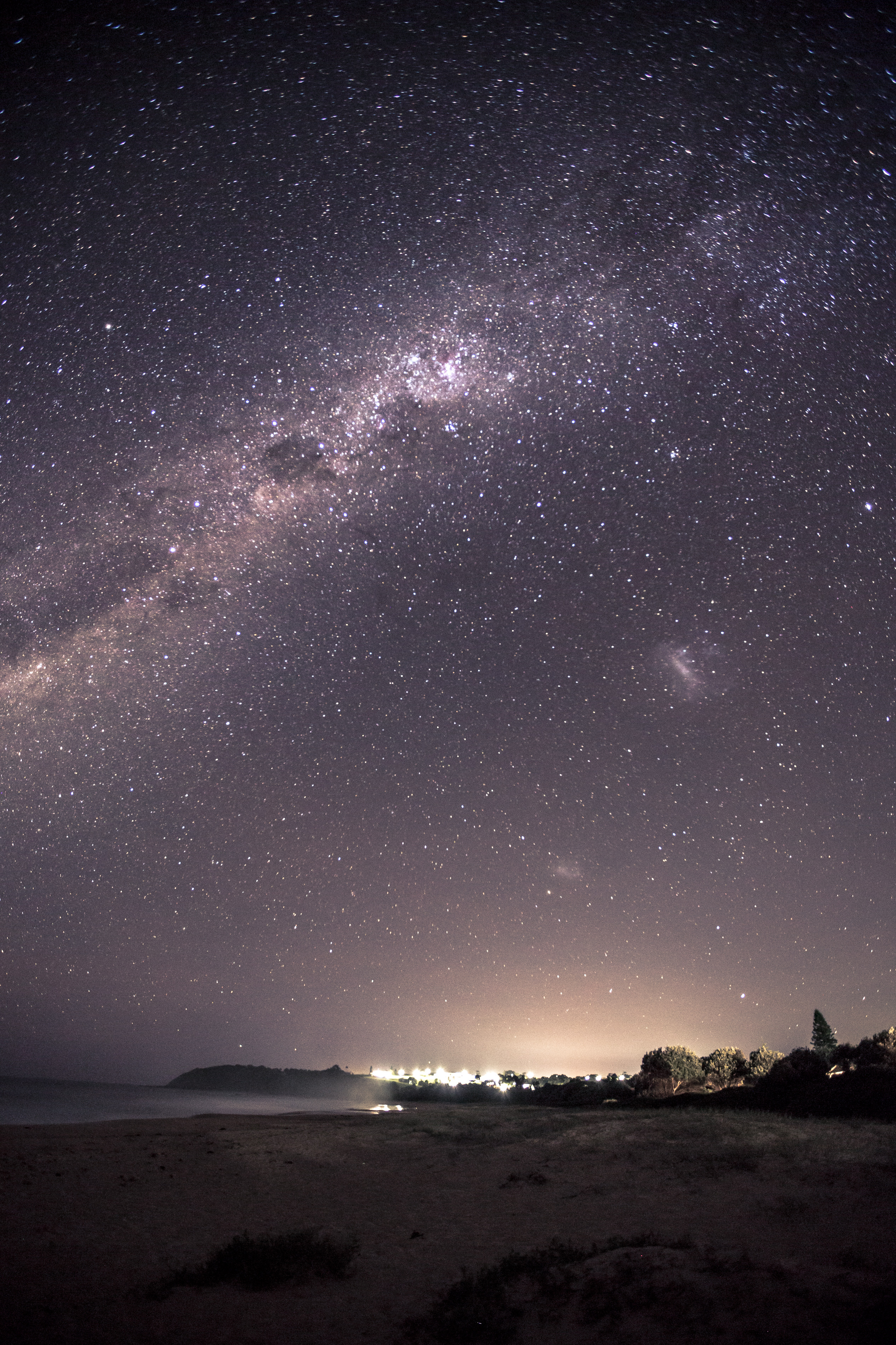 Diamond Beach Sky Photography using Long Exposure