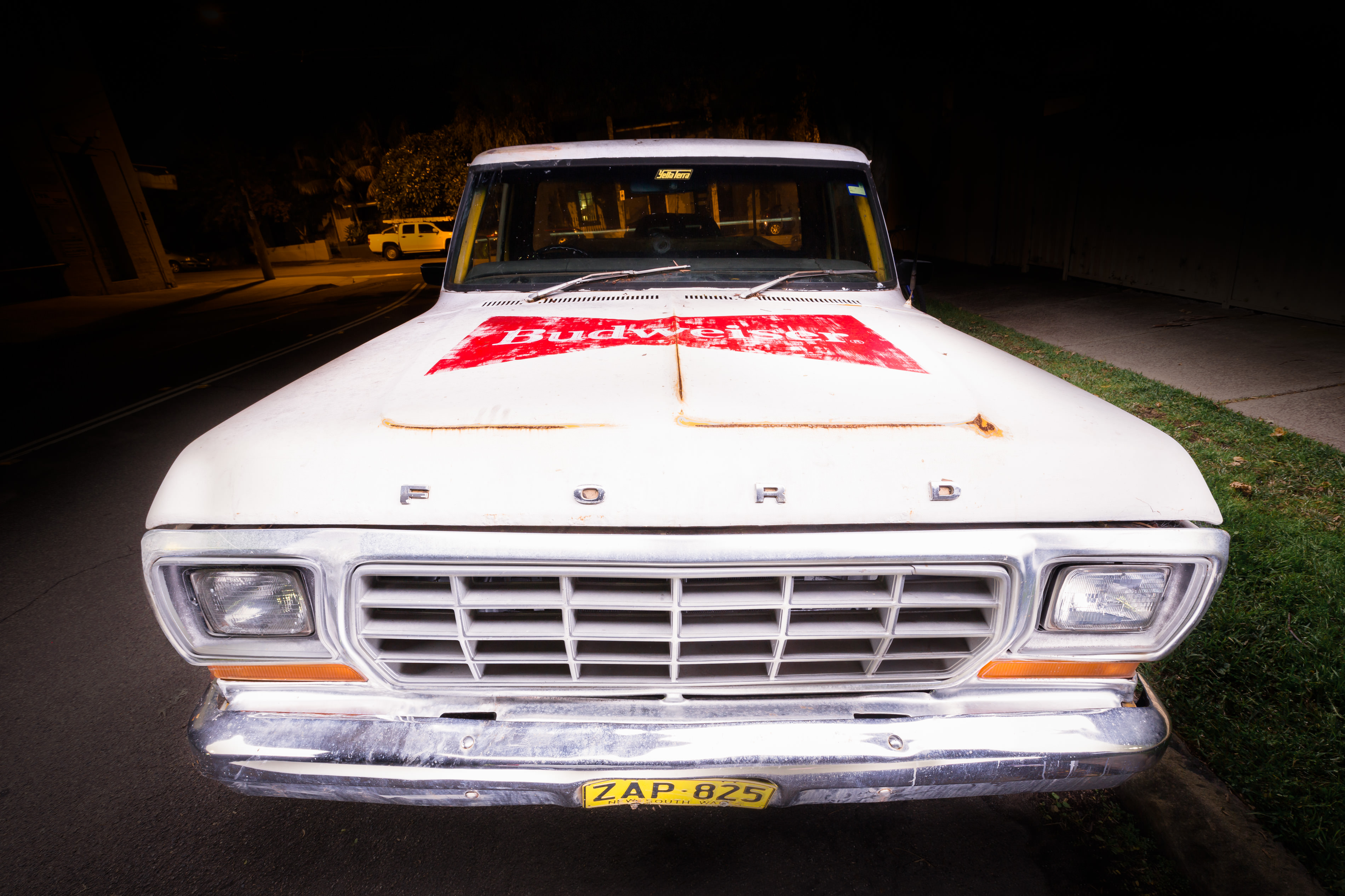 Budweiser Ford F150 Truck Long Exposure night automotive photography & light painting