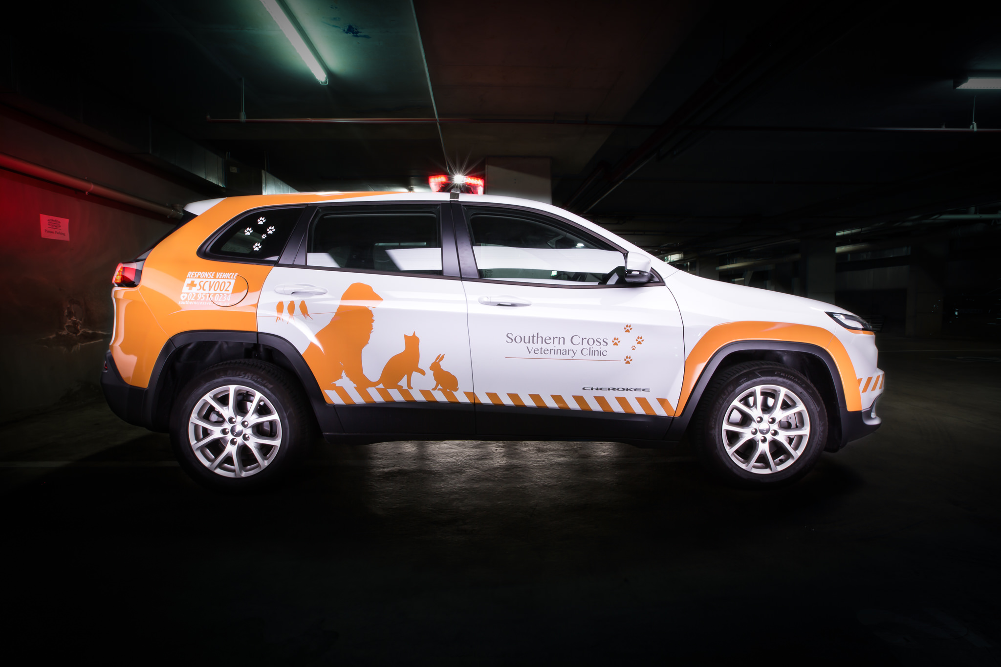 Southern Cross Vet Second Response Vehicle, Jeep Cherokee - Car Photography