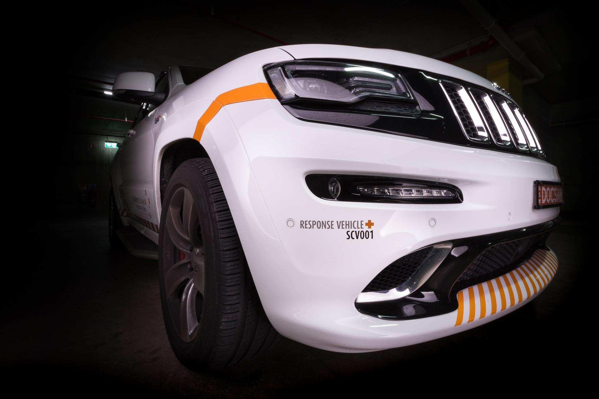 Southern Cross Vet Response Vehicle Driving Lights, Jeep Grand Cherokee Car Photography