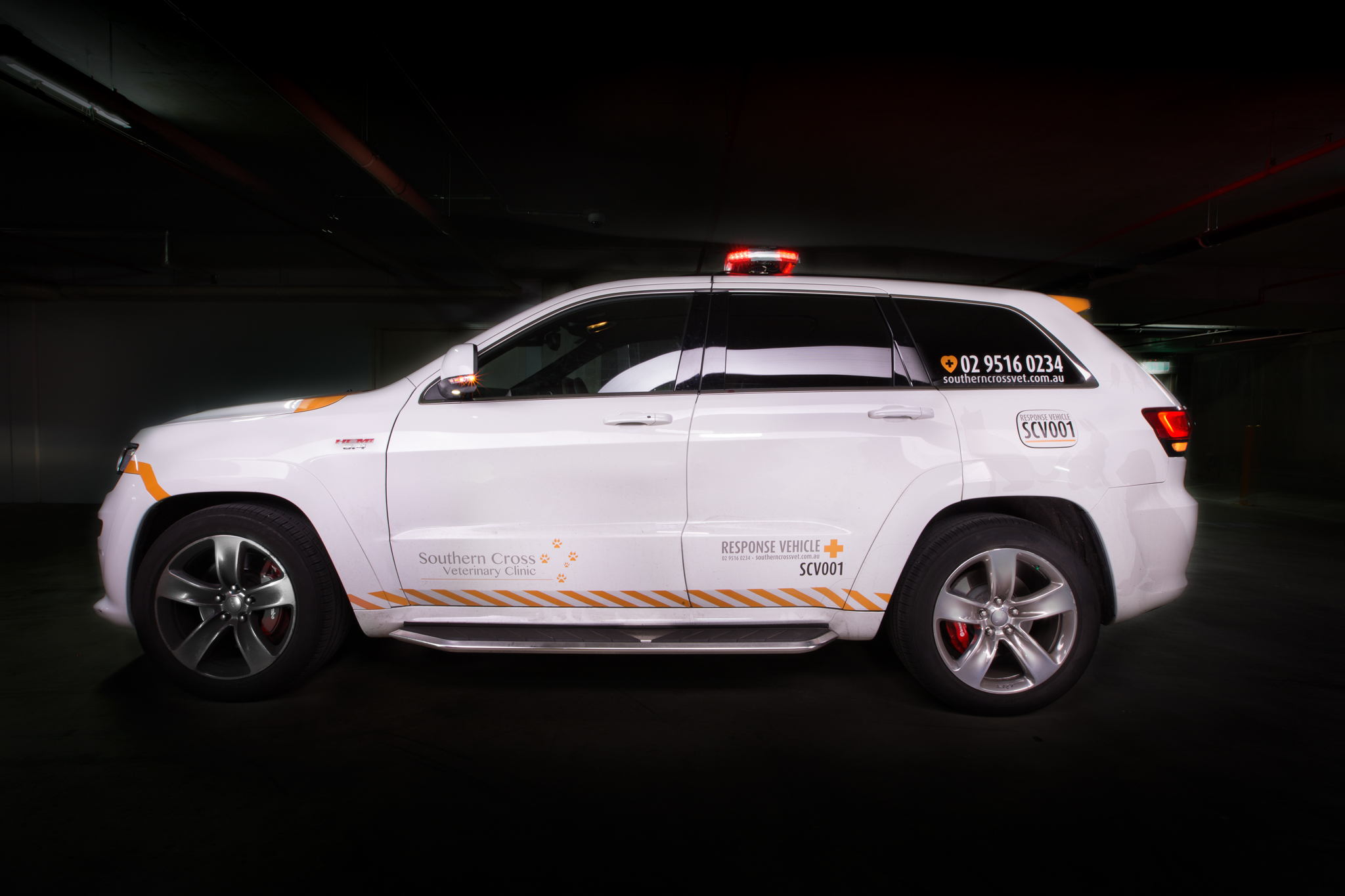 Southern Cross Vet Response Vehicle, Jeep Grand Cherokee Car Photography