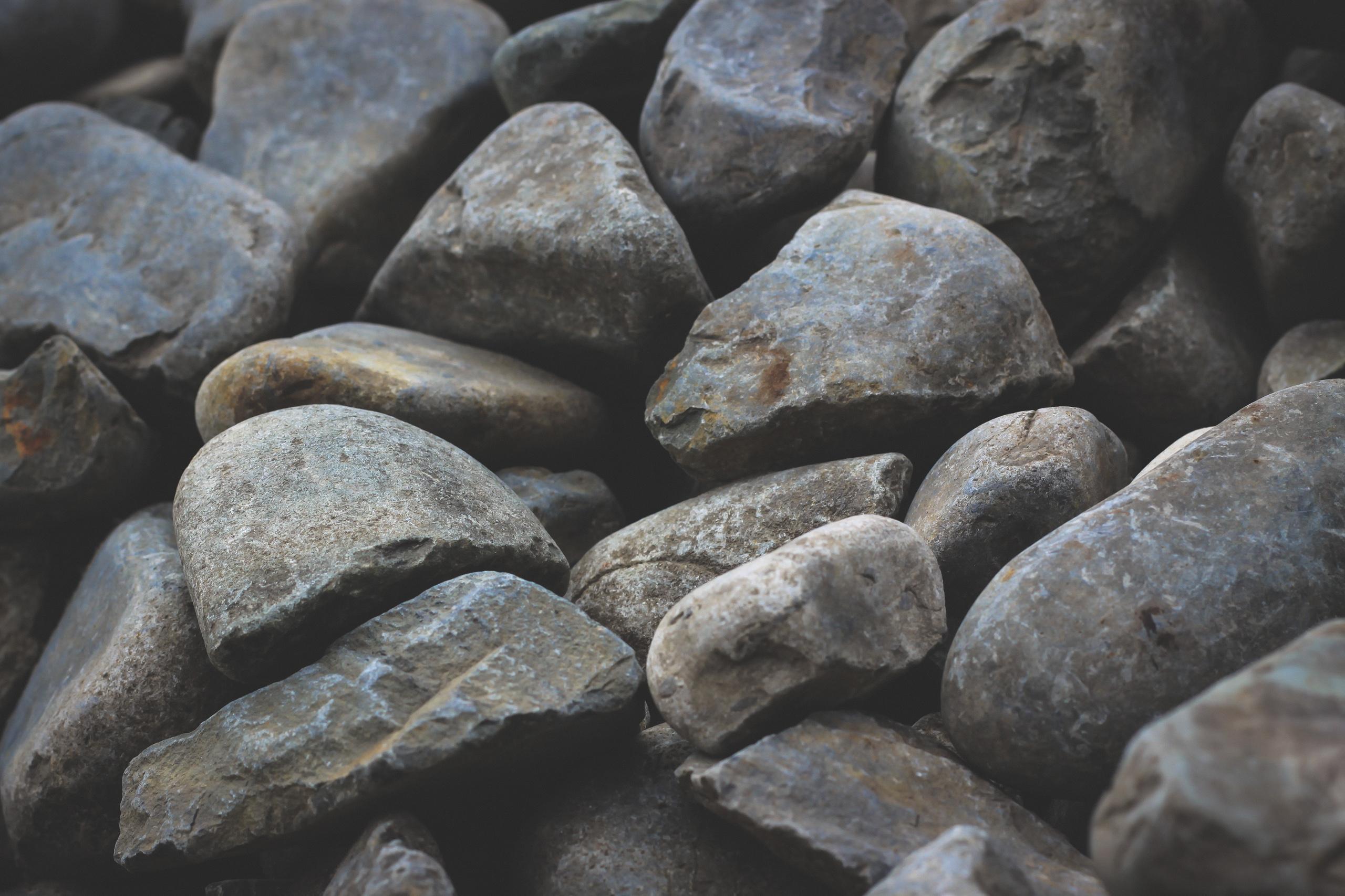 Grey River Stone Closeup Landscape Supply Photography
