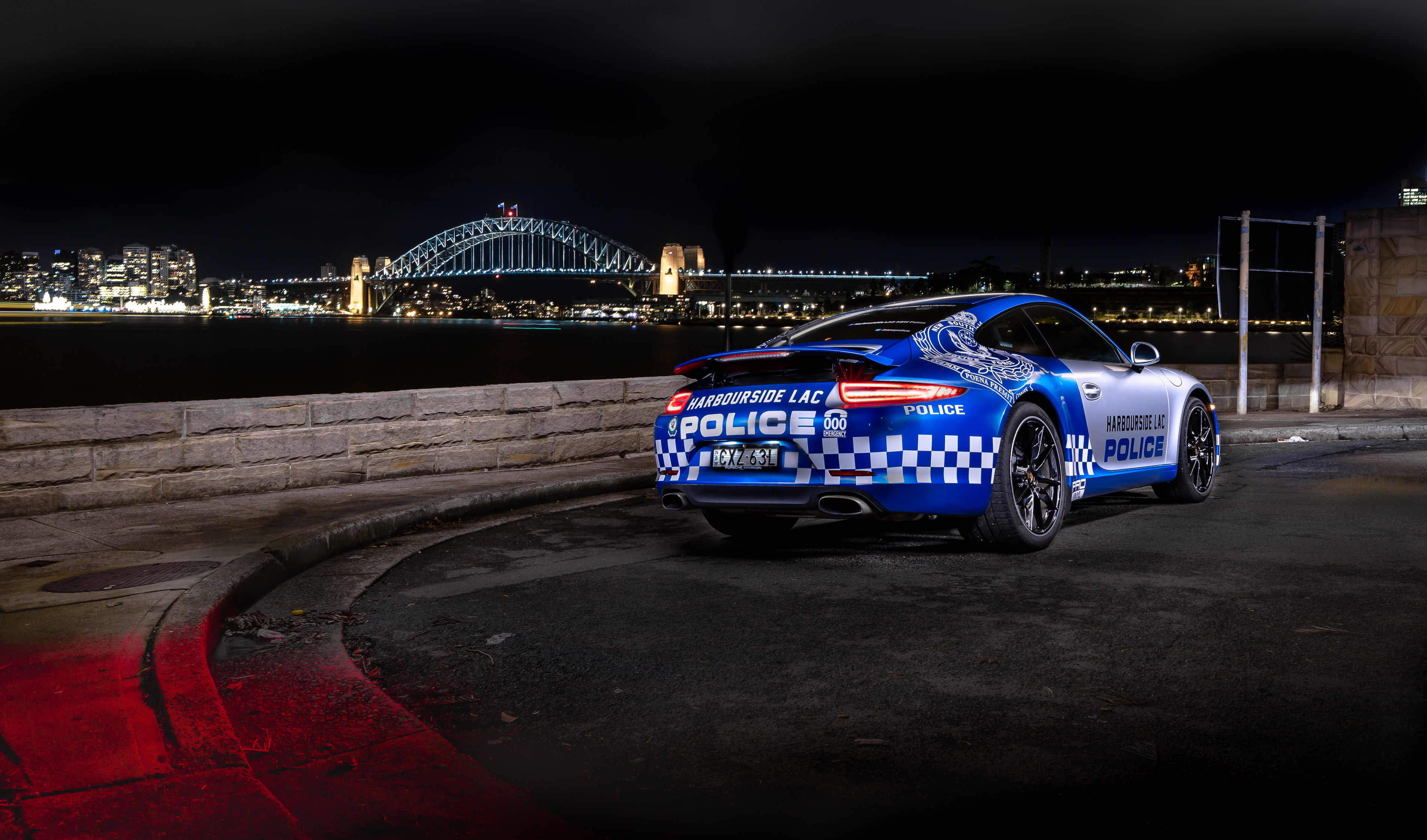 Car photography - Police Porsche 911 Rear