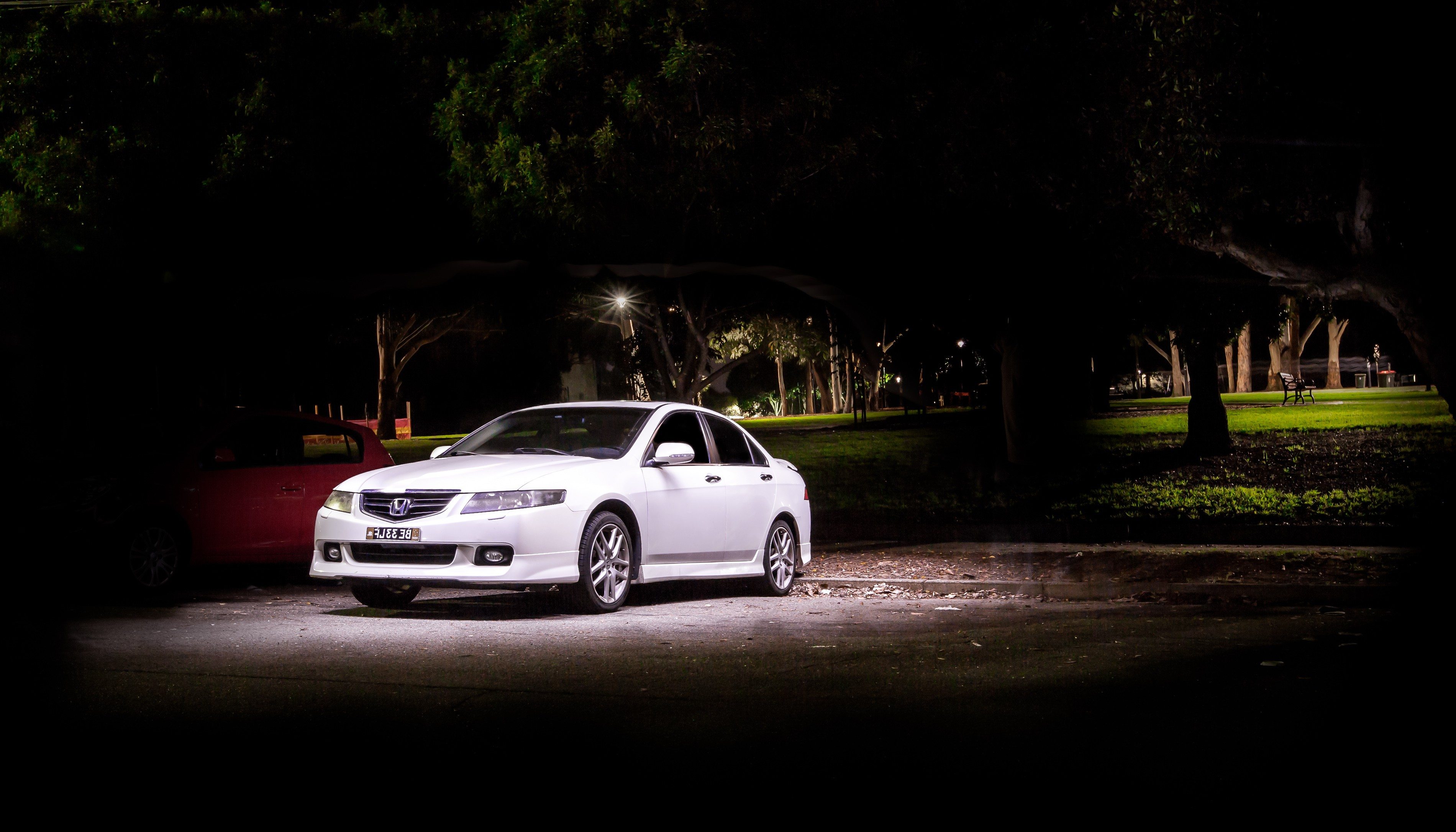 Honda Accord Euro Long exposure light painting night automotive photography