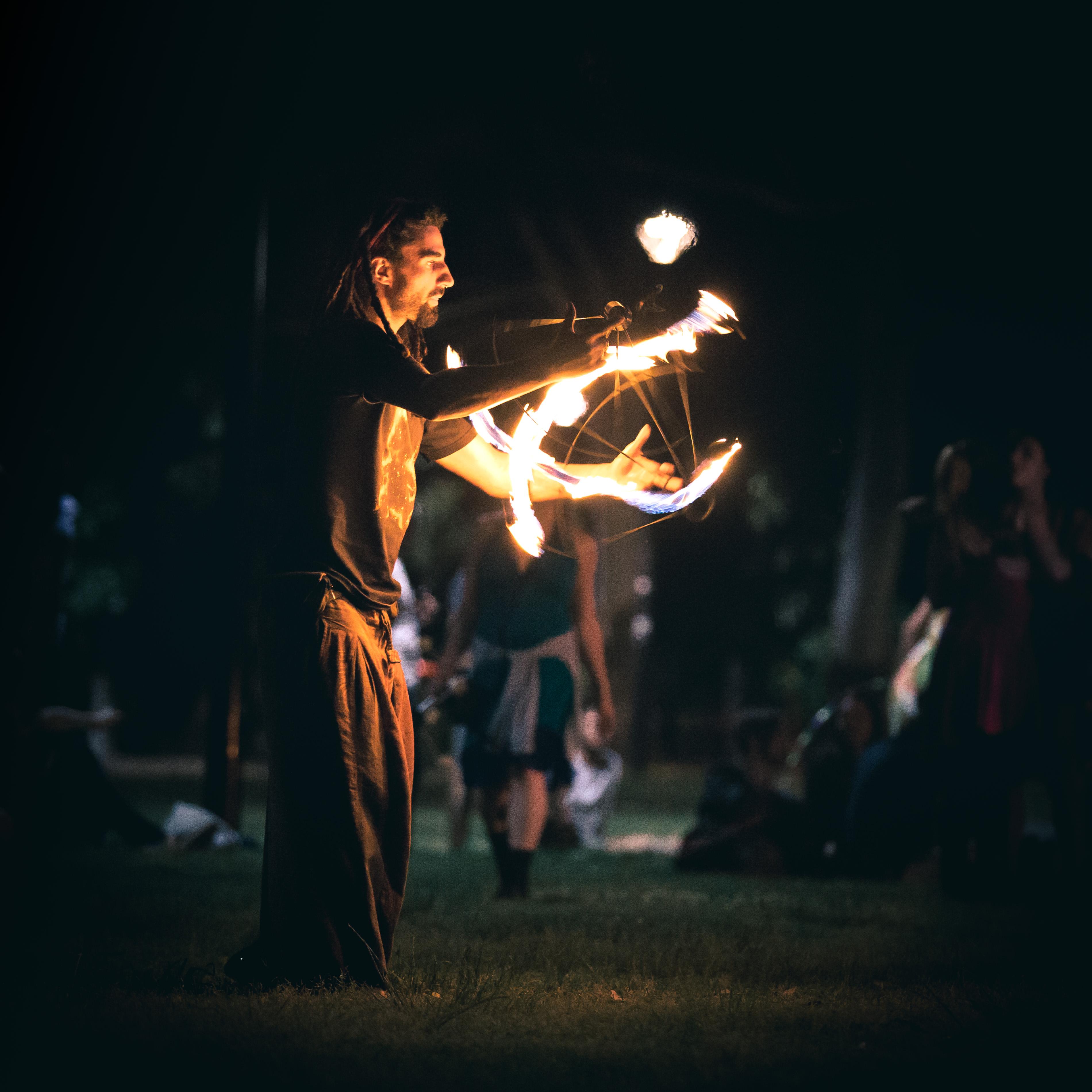 Newtown Fire Twirling in Camperdown Memorial Park