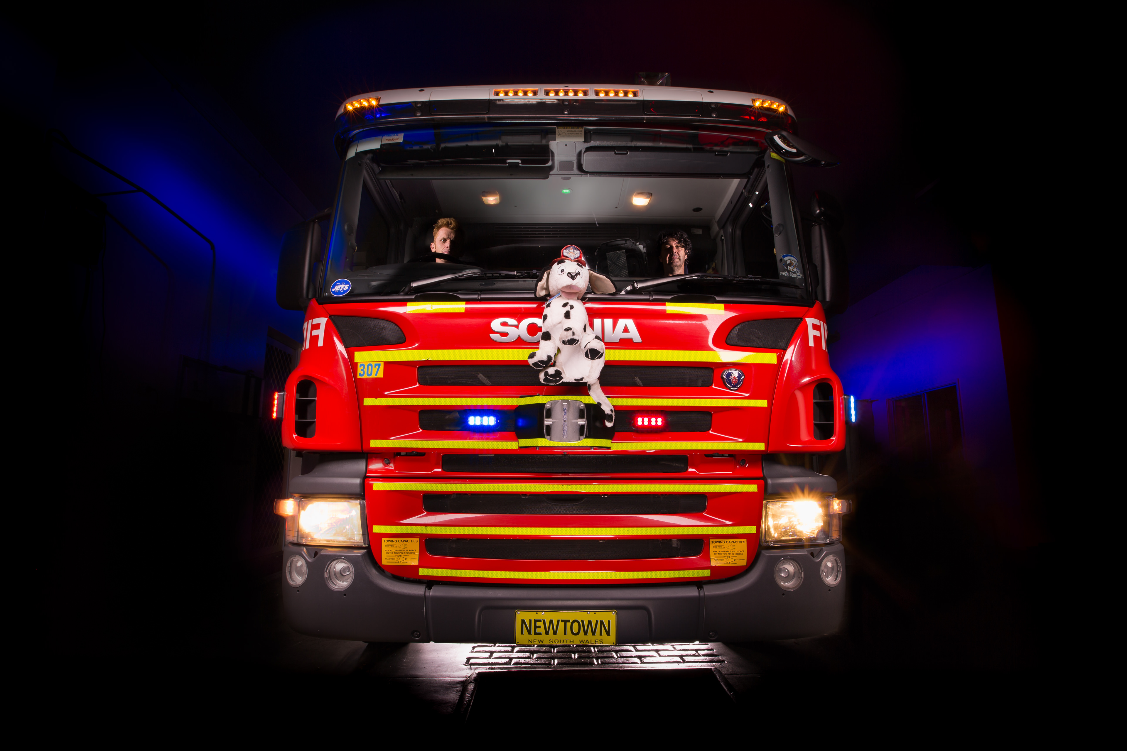 Automotive photography of Newtown Firetruck Front