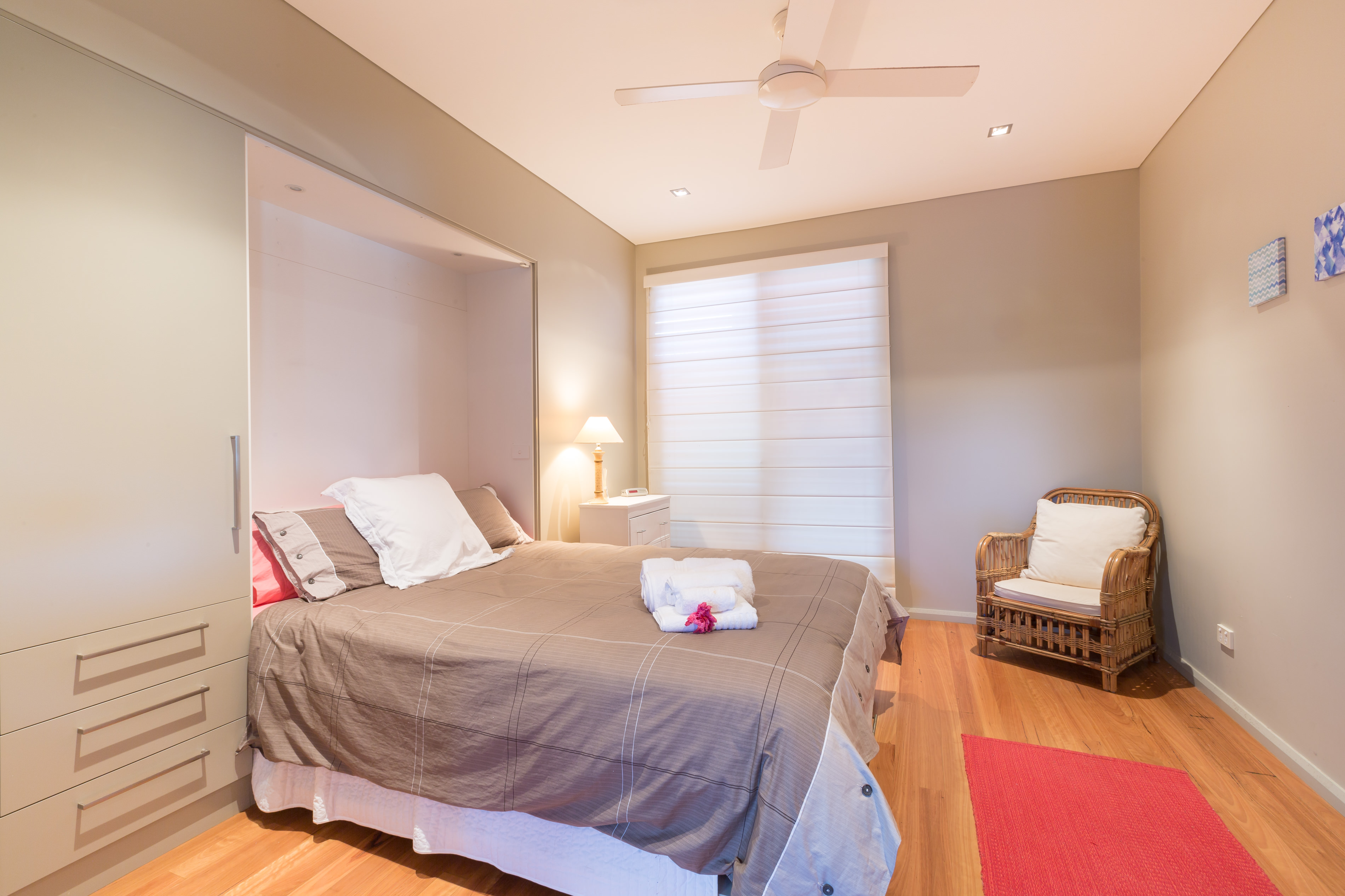 Black Diamond Beach House Main Guest Bedroom, Real Estate Photography