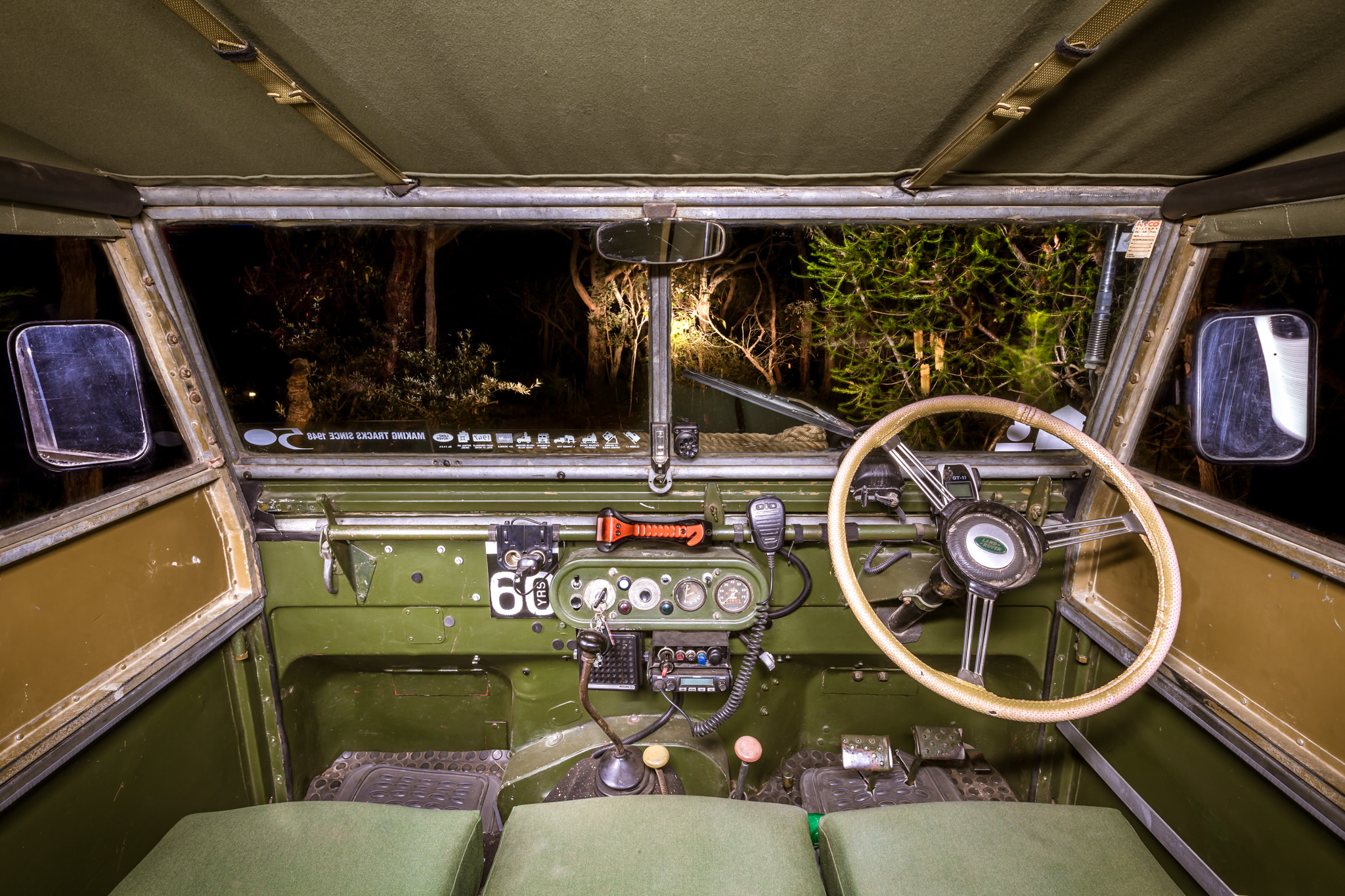 1951 Series 1 Land Rover Interior Dash - Classic Car Photography